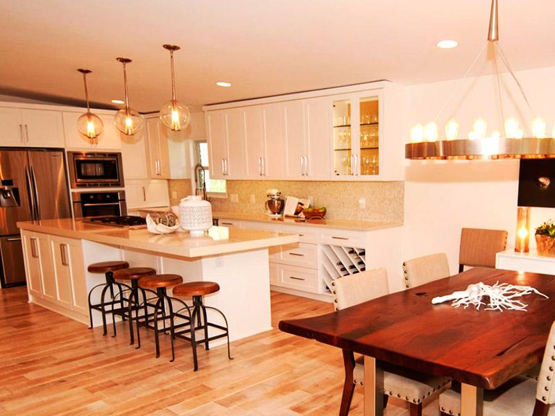 mejor distancia de luces empotradas en la cocina